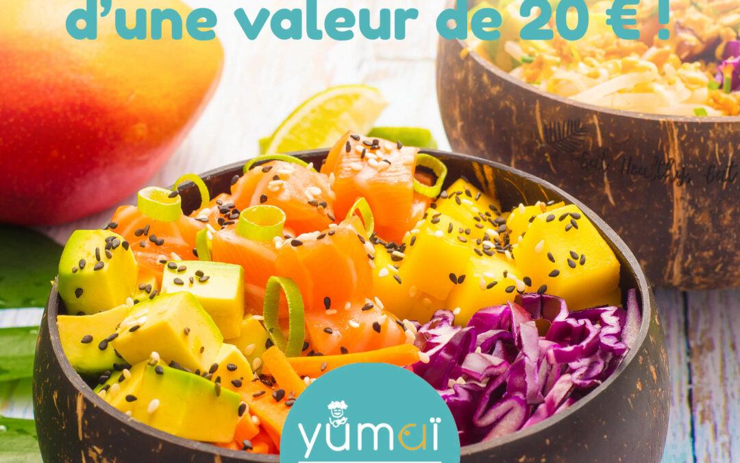 #JEUCONCOURS YUMAI gagne ta commande d'une valeur de 20€* !