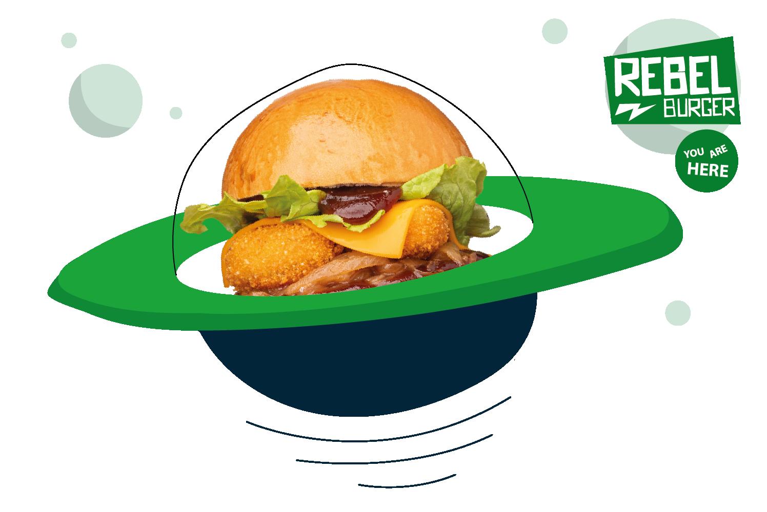 Soucoupe burger planete Plan de travail 1